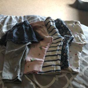 Gap set of 5 leggings size 6-12 months